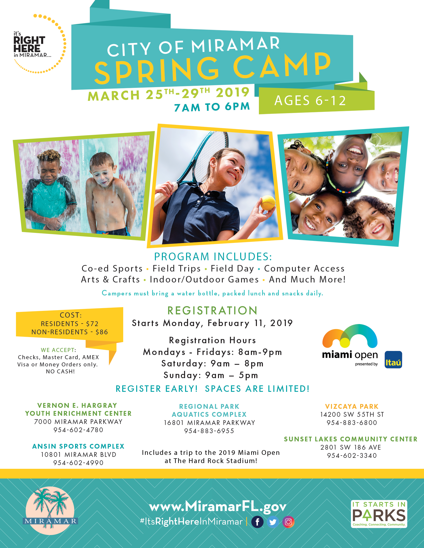 City of Miramar Spring Camp 2019