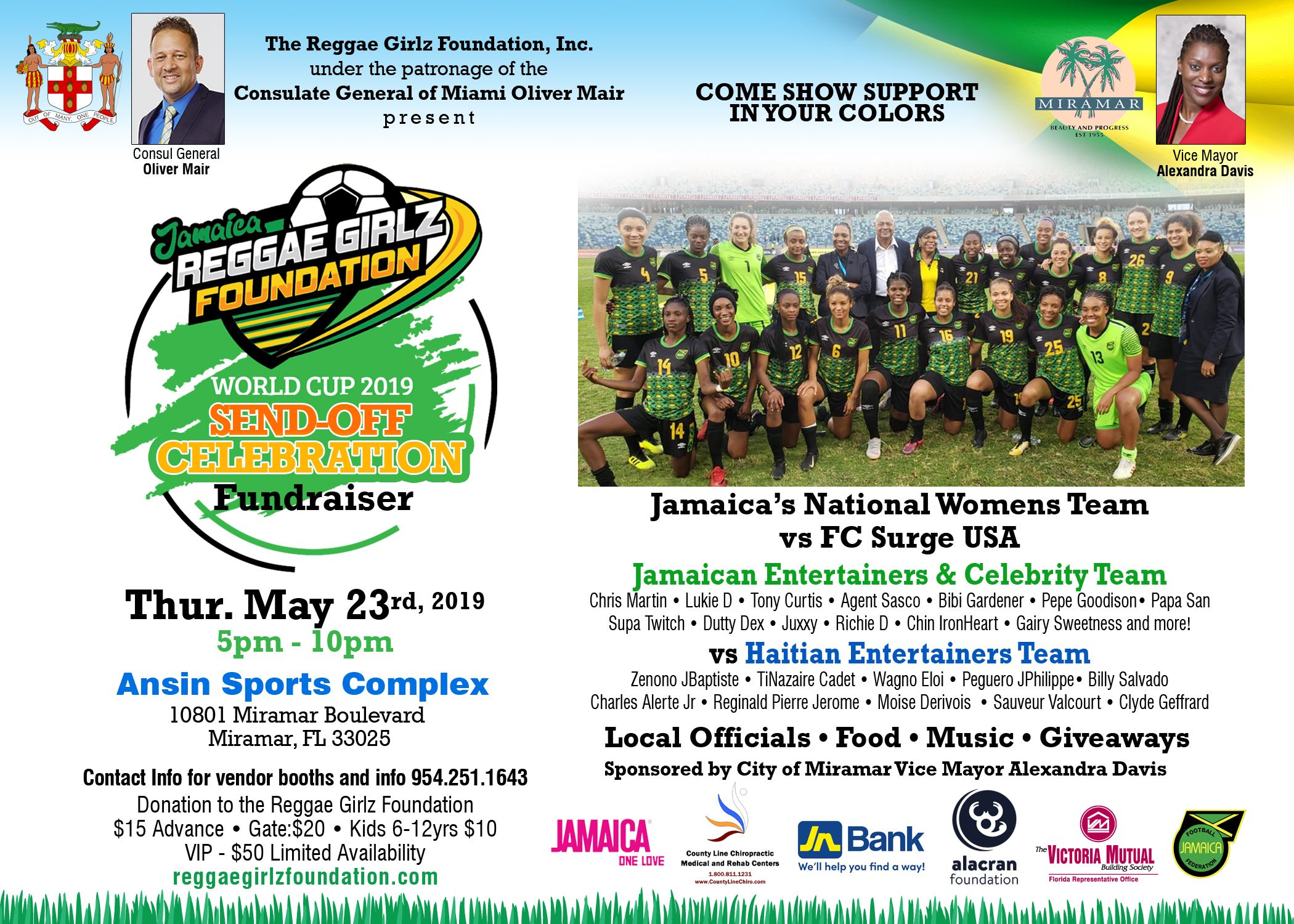 ReggaeGirlzFoundation - WorldCup2019Send-OffCelebration 052319