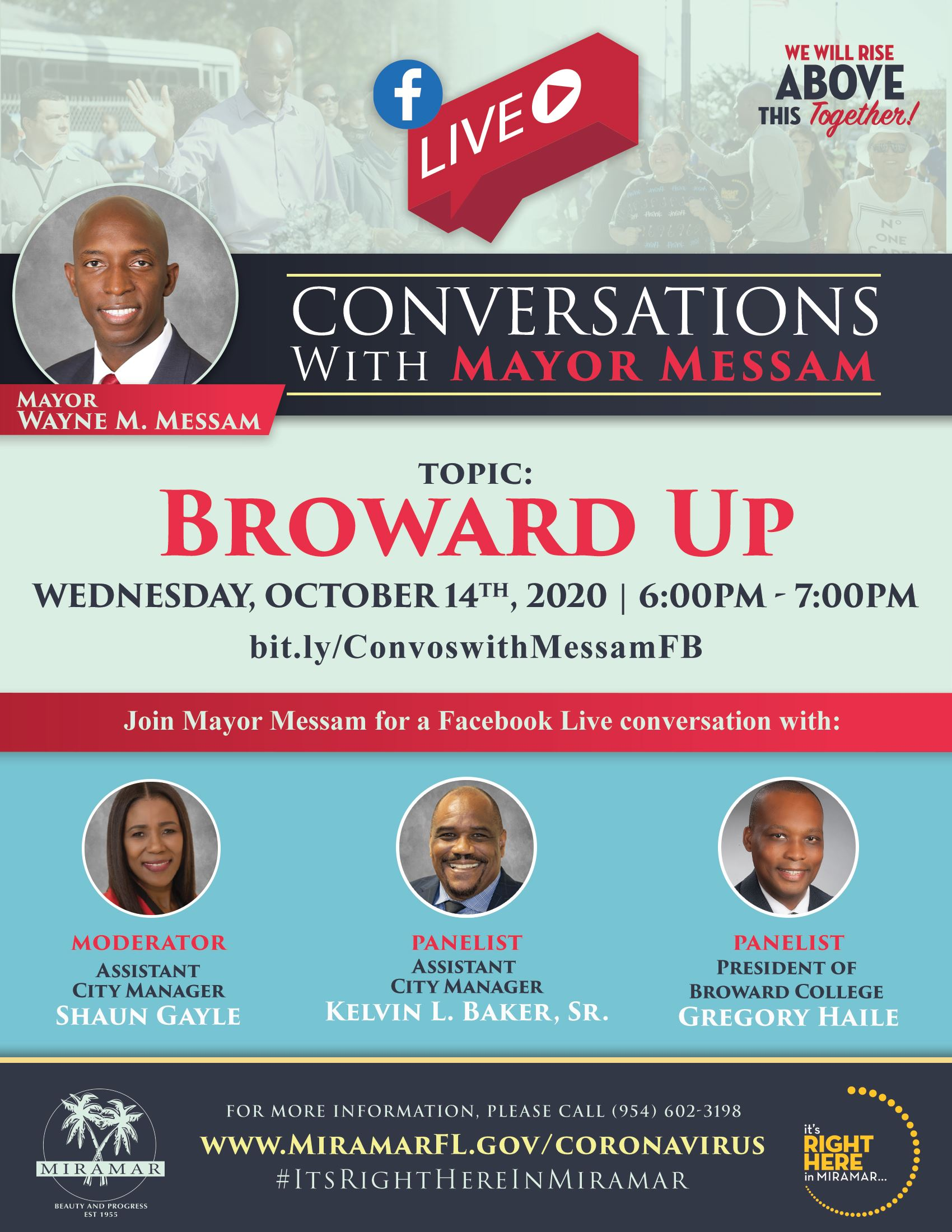 Facebook Live Conversations with Mayor Flyer_Oct14