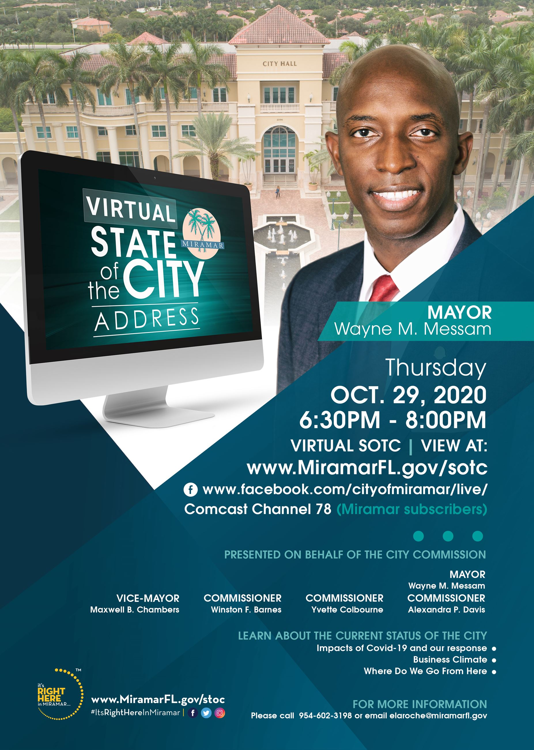State of the City 2020 Flyer