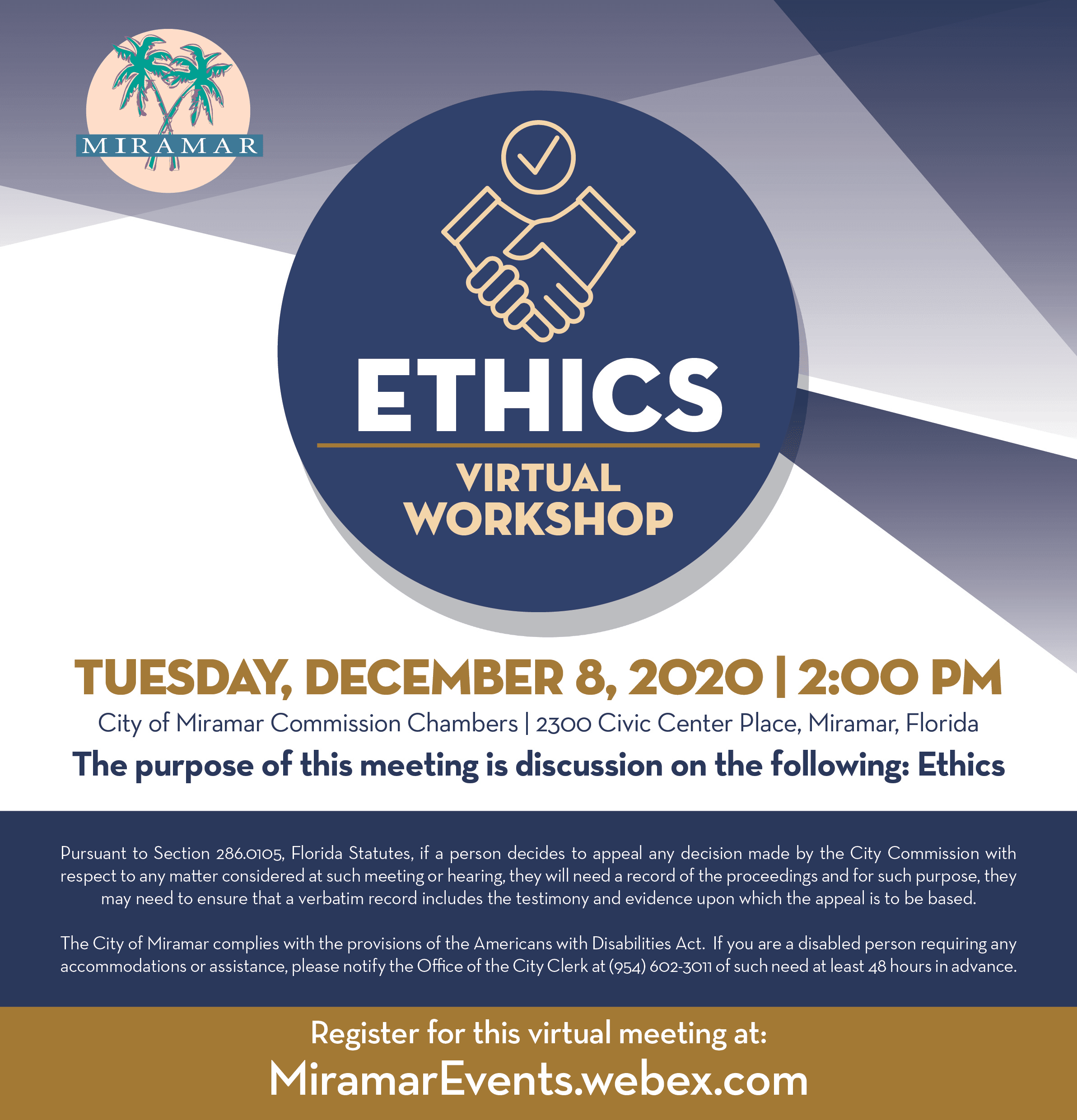 Ethics Workshop December 8 2020 - Home Page Banner