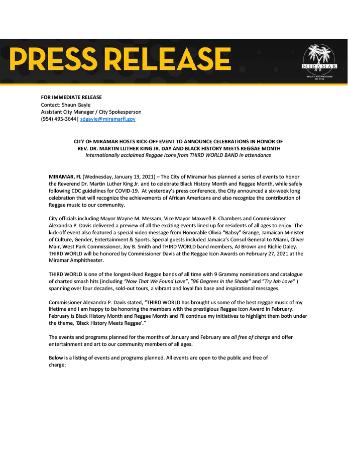 Press Release- BHM-Reggae Month Kick-Off- Jan 12 2021-1