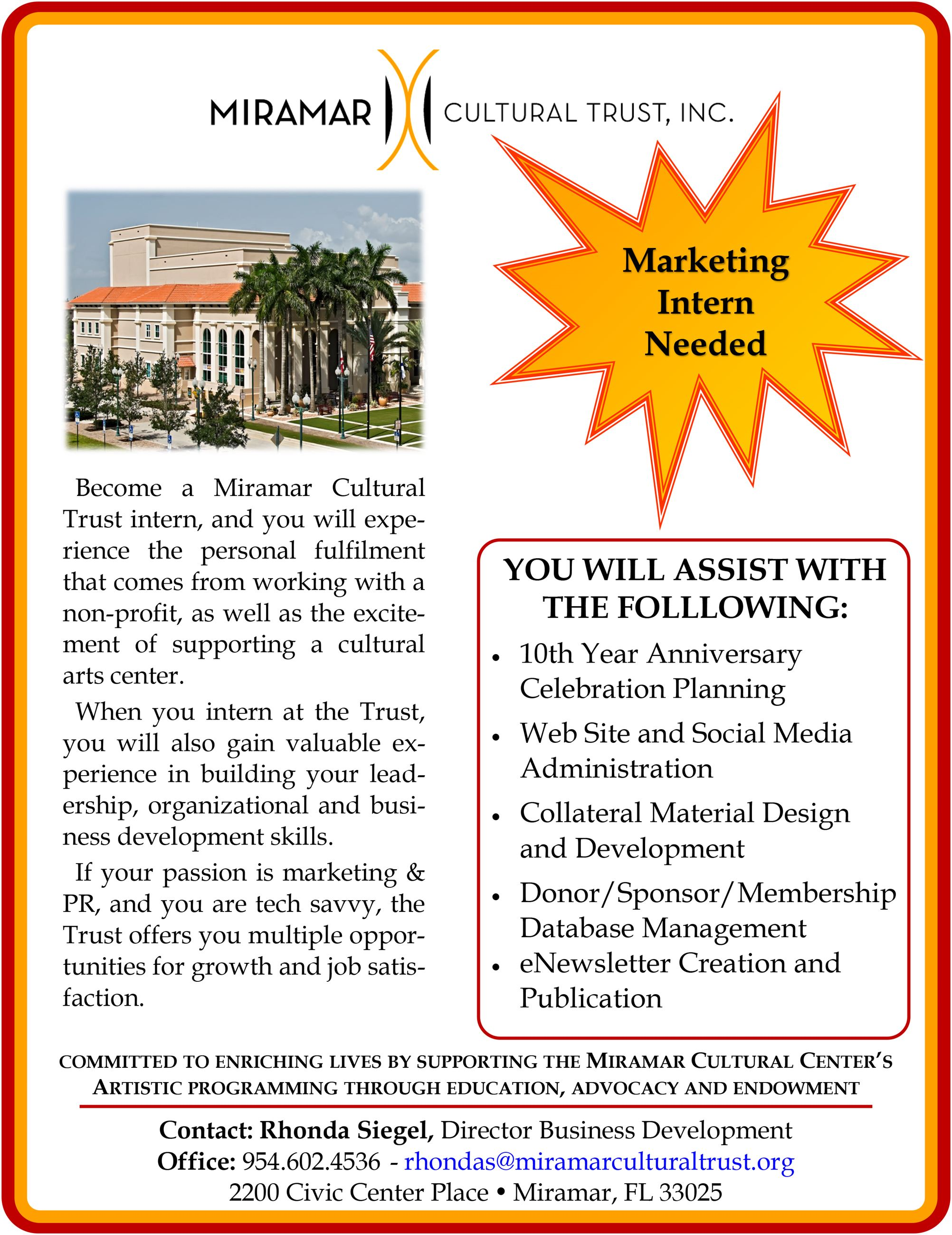 MCT Intern Flyer