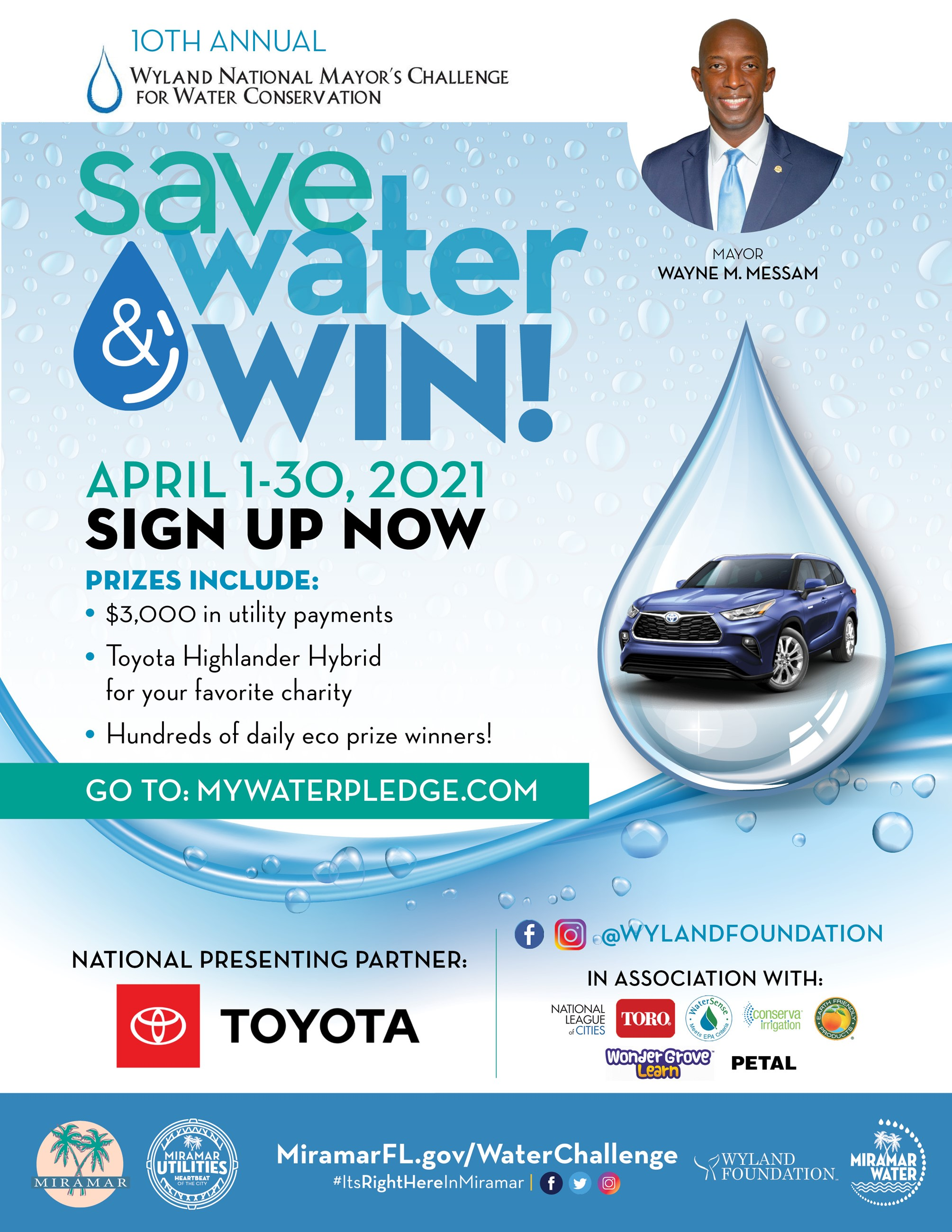 Mayor Messam Annual Water Conservation Challenge
