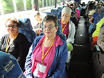 Seniors travel on a bus
